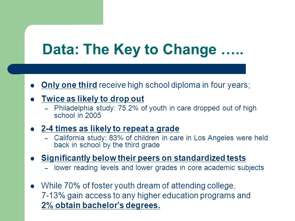 Data: The Key to Change …..
