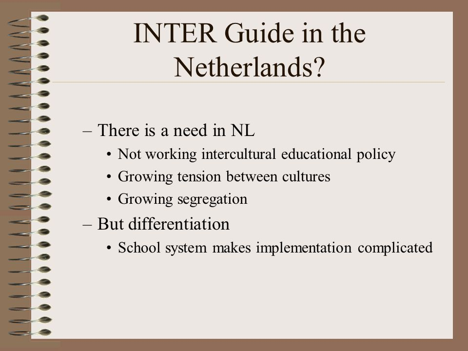 INTER Guide in the Netherlands.