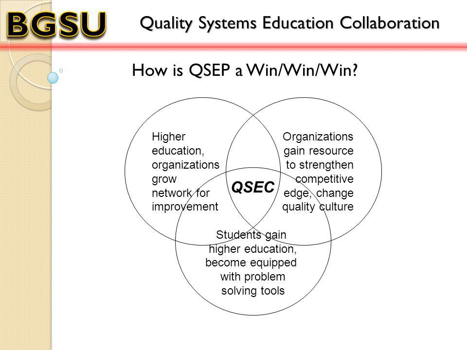 How is QSEP a Win/Win/Win.