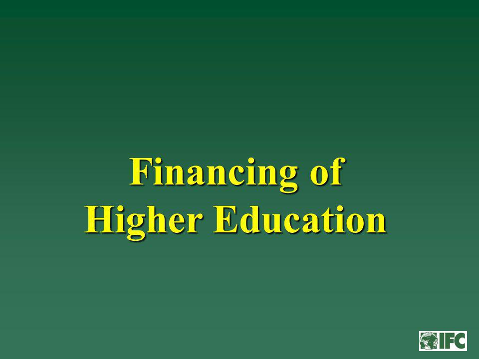 Financing of Higher Education