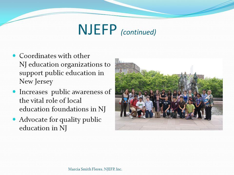 Charitable Giving 2010 Marcia Smith Fleres, NJEFP, Inc.