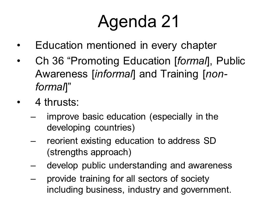 Other ESD Milestones International Conference on Environment and Society: Education and Public Awareness for Sustainability (1997 – Thessaloniki, Greece) UN CSD reviews Ch.