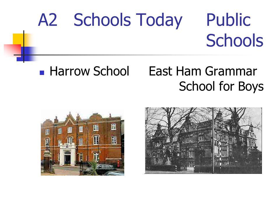 A2 Schools Today Public Schools Harrow School East Ham Grammar School for Boys