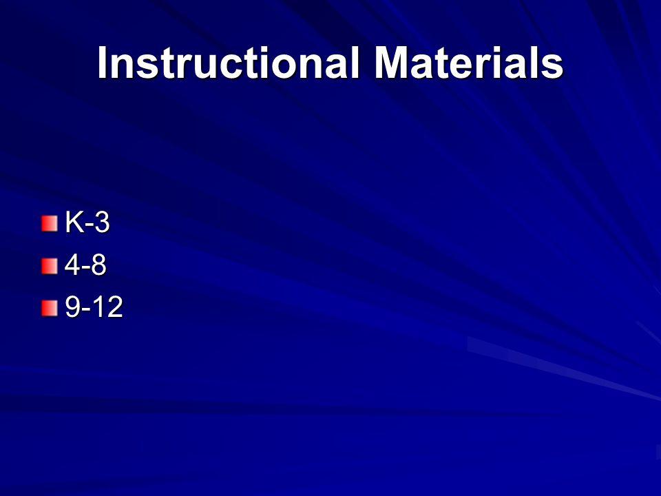 Instructional Materials K-34-89-12