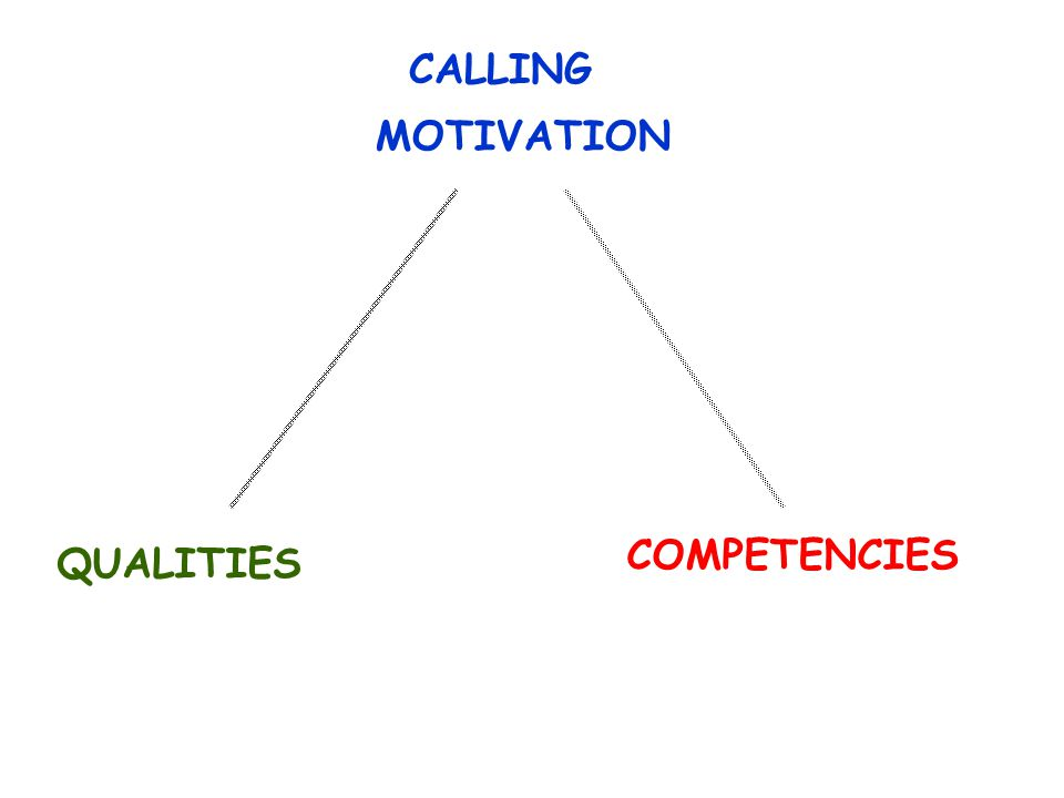 CALLING COMPETENCIES QUALITIES MOTIVATION