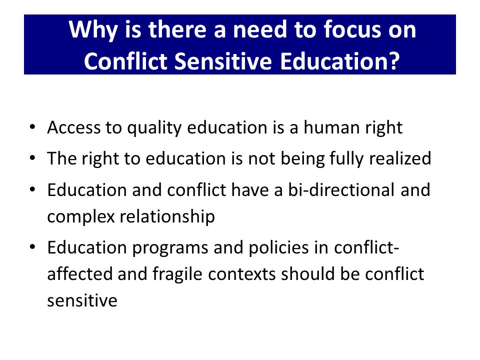 What is the INEE Reflection Tool for Designing and Implementing Conflict Sensitive Education Programmes in Conflict-Affected and Fragile Contexts.