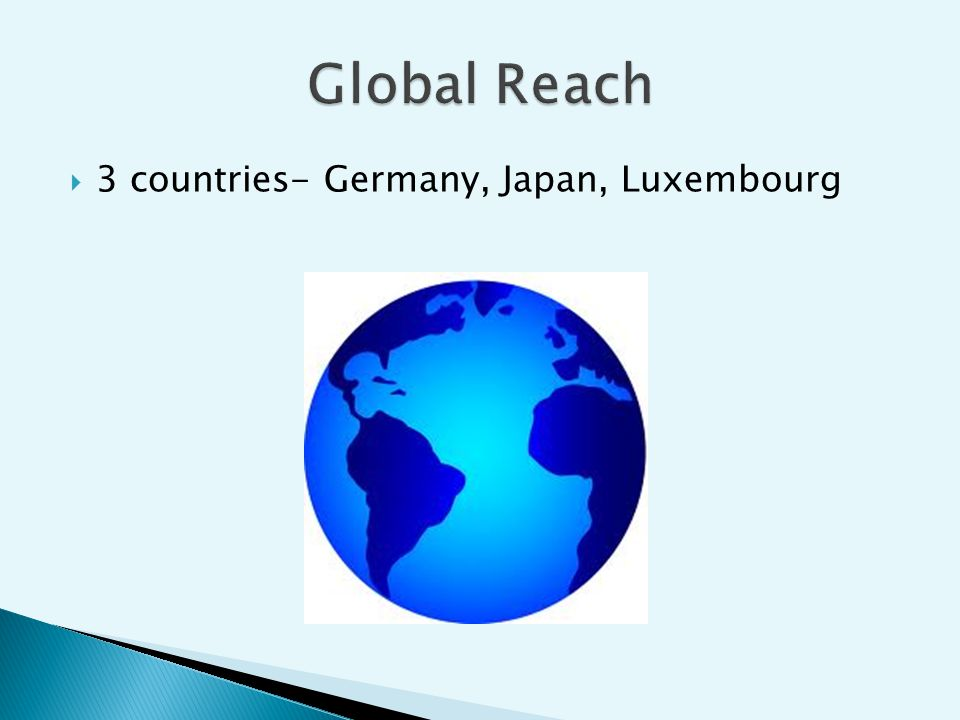 3 countries- Germany, Japan, Luxembourg