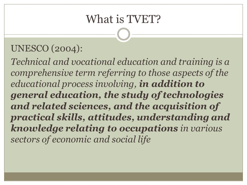 What is ATVET.