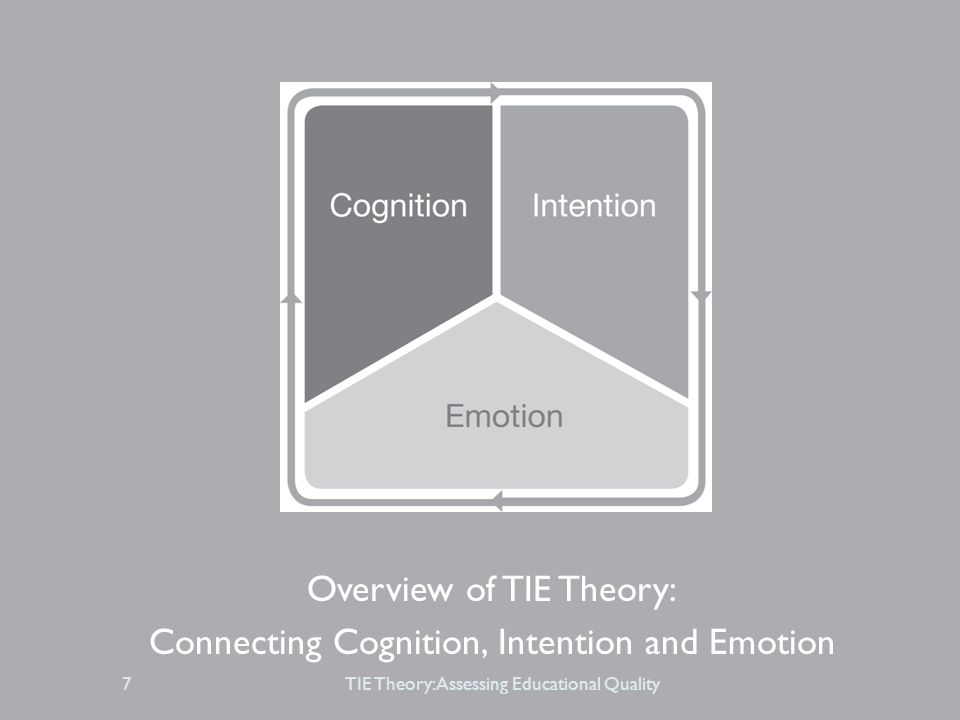 Overview of TIE Theory: Connecting Cognition, Intention and Emotion TIE Theory: Assessing Educational Quality7