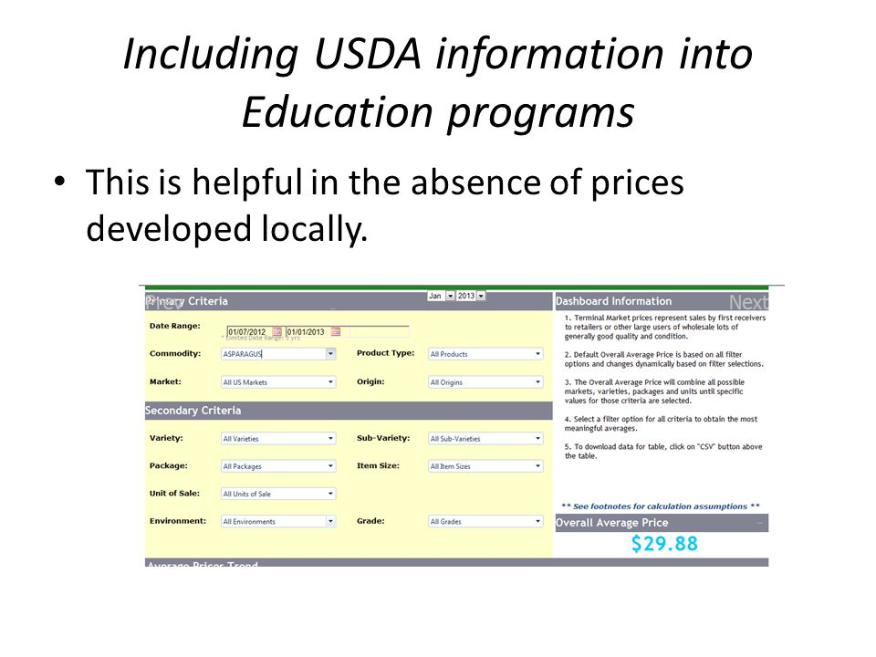 Including USDA information into Education programs National Appeals Division