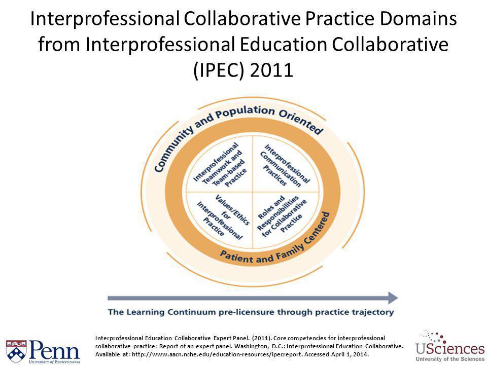 Interprofessional Collaborative Practice Domains from Interprofessional Education Collaborative (IPEC) 2011 Interprofessional Education Collaborative