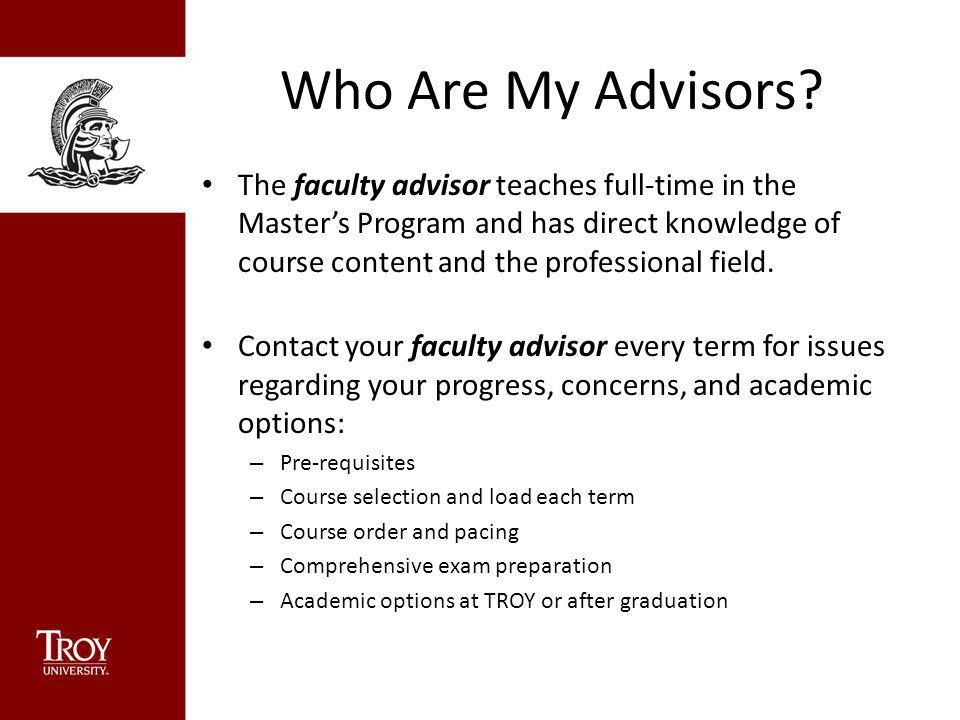 Who Are My Advisors.