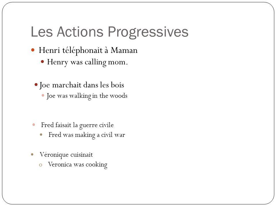 Les Actions Progressives Henri téléphonait à Maman Henry was calling mom.