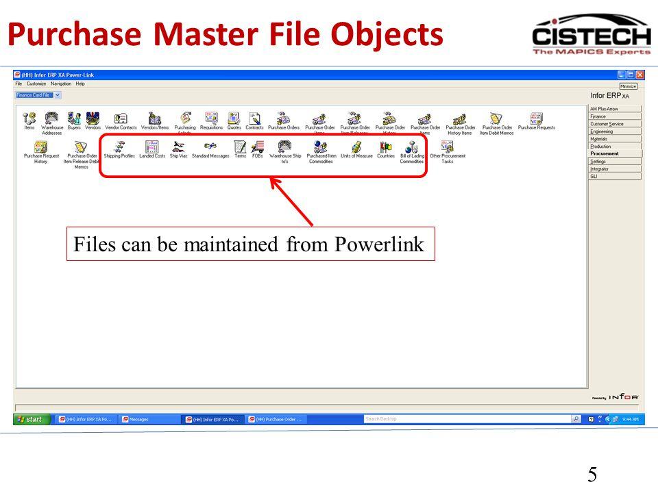 PO Close & Purge 6 Select a range Select individual Normal Close Force Close Activate Undo Close Close can be reversed