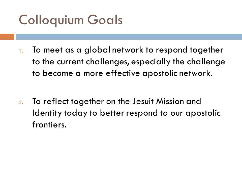 Colloquium Goals 1.