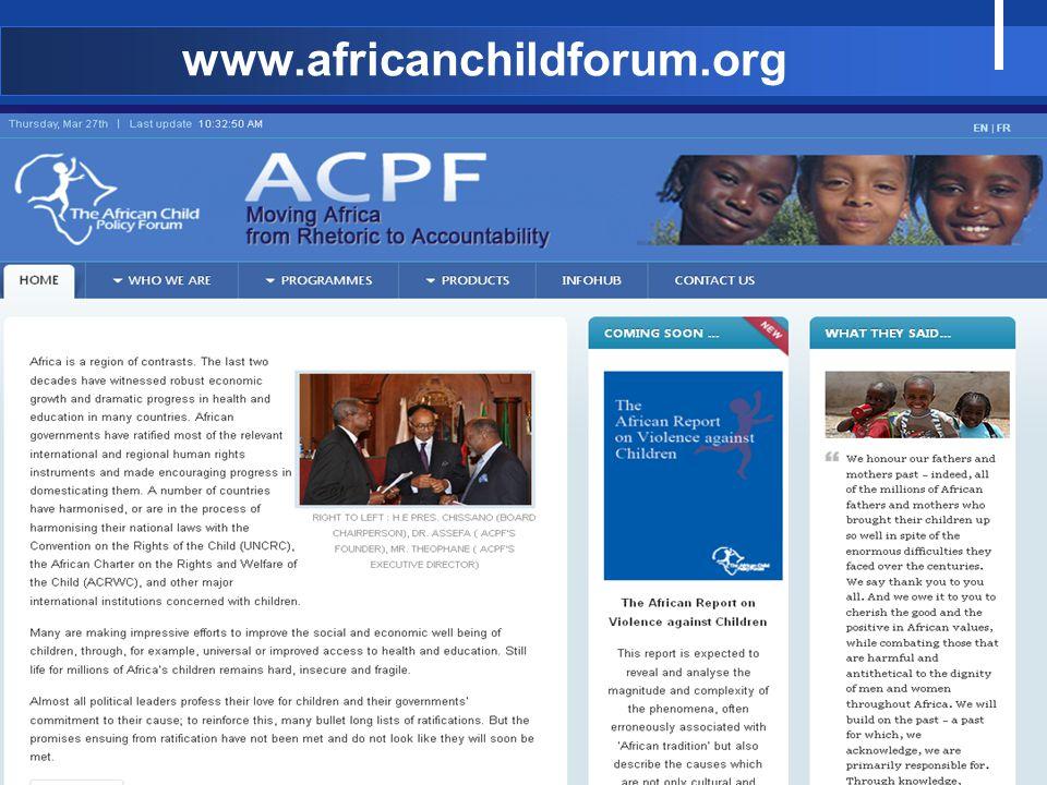 www.africanchildforum.org 17