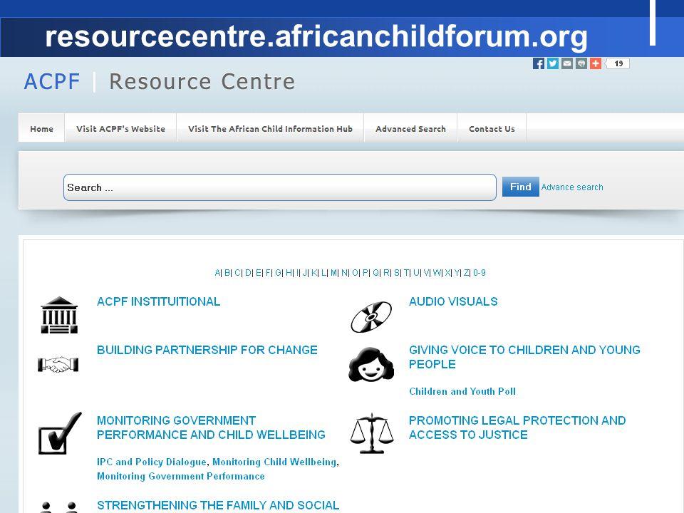 resourcecentre.africanchildforum.org 18