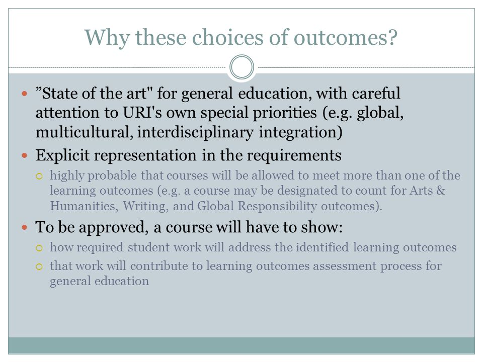 Outcome Area A – Knowledge Build knowledge of diverse peoples and cultures and of the natural and physical world.