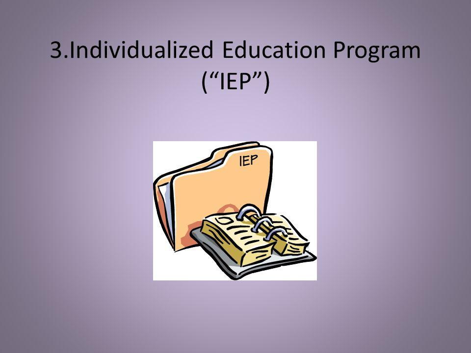 3.Individualized Education Program (IEP)