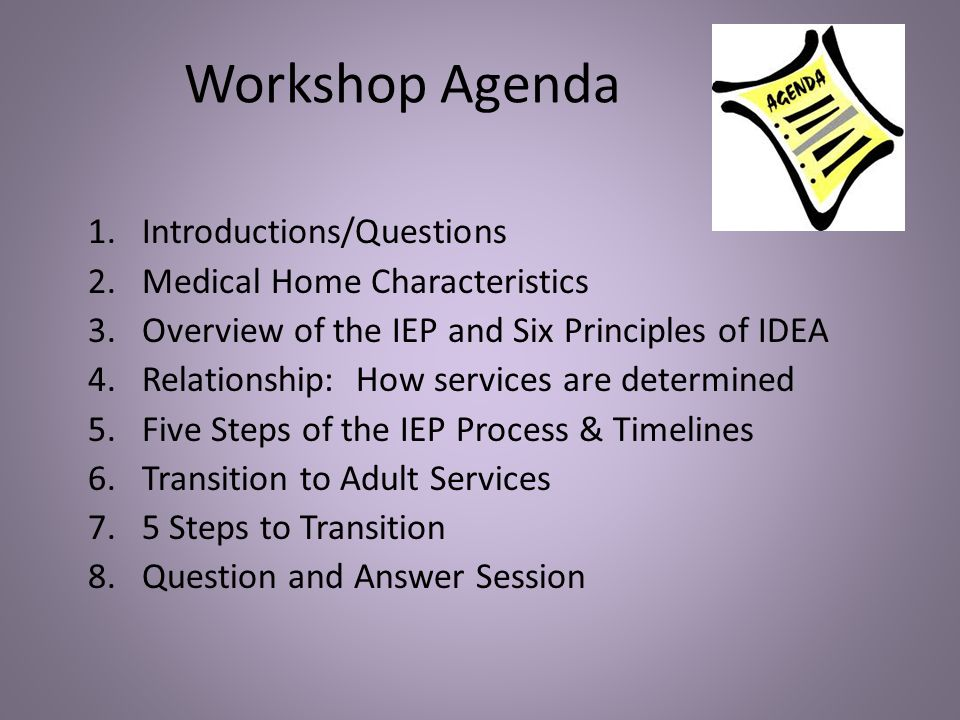 Special Education: IEP process map 1.