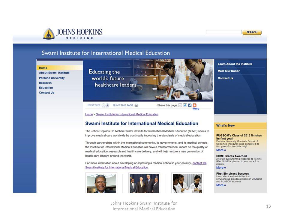 Johns Hopkins Swami Institute for International Medical Education 13