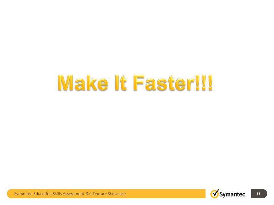 Symantec Education Skills Assessment 3.0 Feature Showcase 13