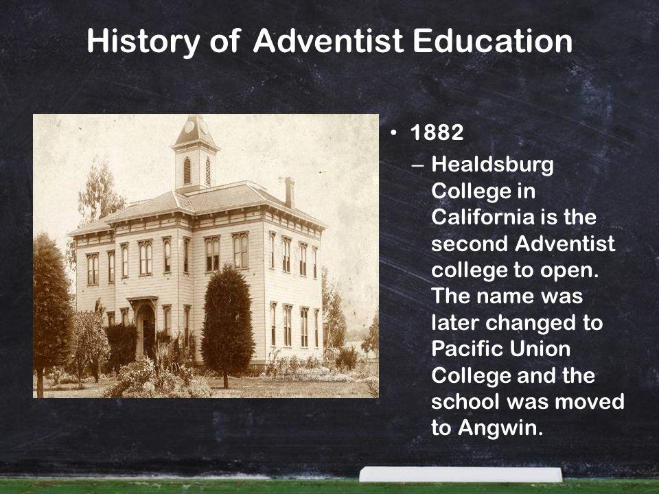 History of Adventist Education 1883 – School of nursing opens at Battle Creek Sanitarium under Dr.