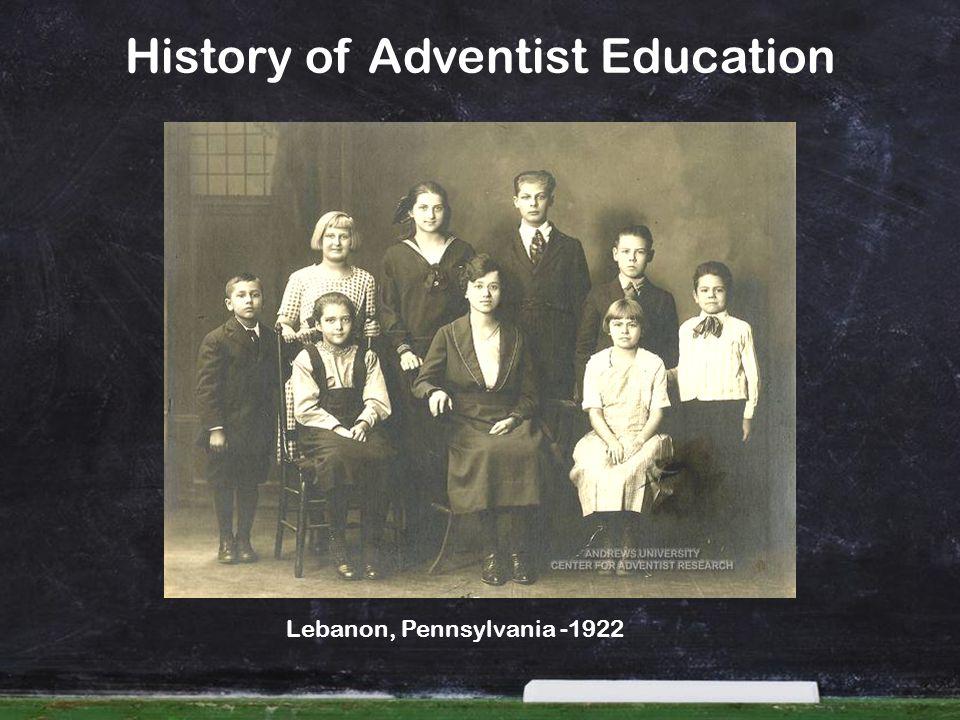 History of Adventist Education Lebanon, Pennsylvania -1922