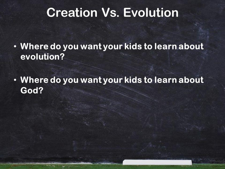 Creation Vs.Evolution In November 2004 our 9/10 Biology class visited Dr.