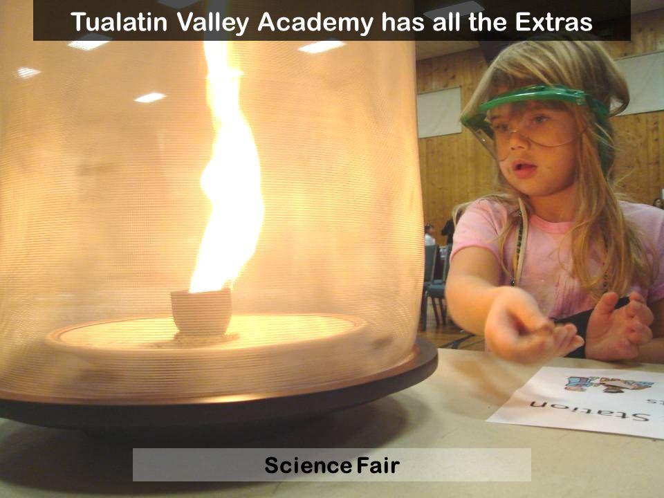 Science Fair Tualatin Valley Academy has all the Extras