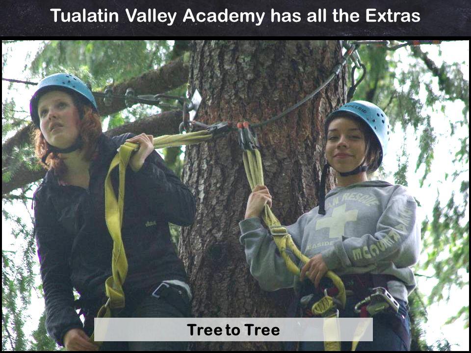 Tualatin Valley Academy has all the Extras Tree to Tree