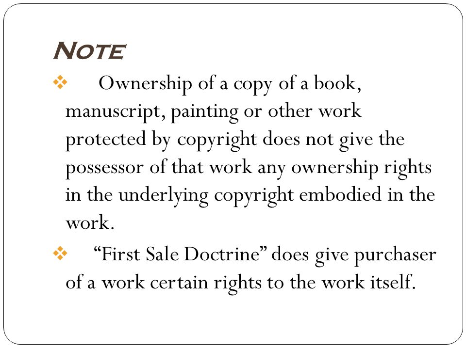 What is not protected by Copyright.