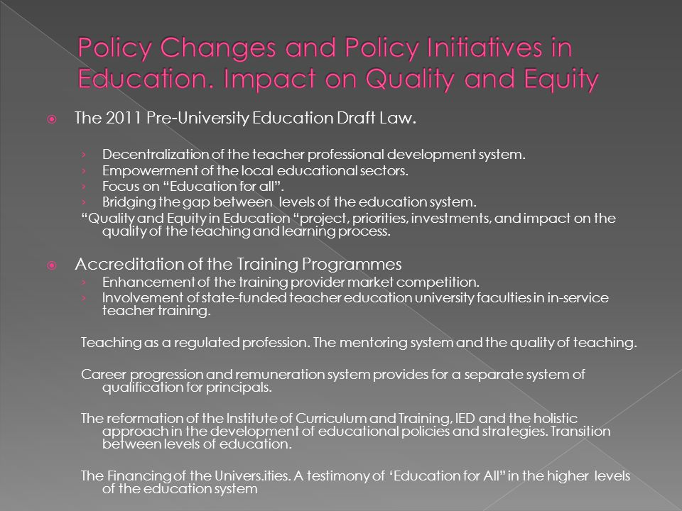 The 2011 Pre-University Education Draft Law.