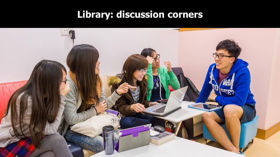 Library: discussion corners