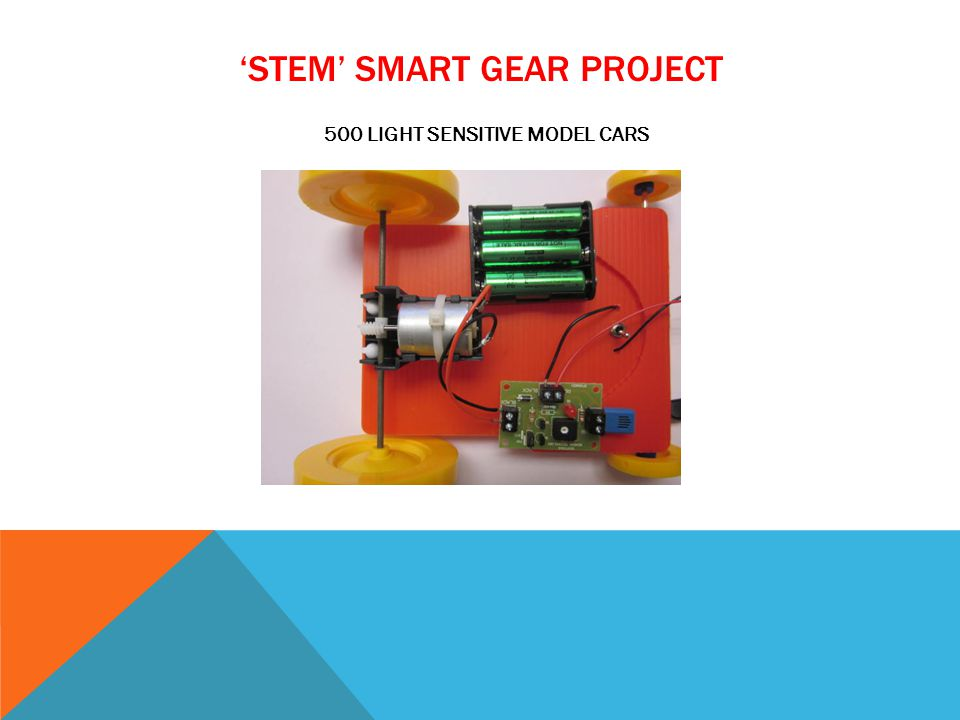 STEM SMART GEAR PROJECT 500 LIGHT SENSITIVE MODEL CARS