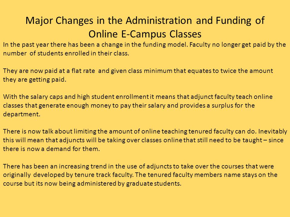 Hegemony and its Effects on Students Enrolled for Online Classes at OSU Due to on campus access issues, students have no real choice but to turn to online sections.