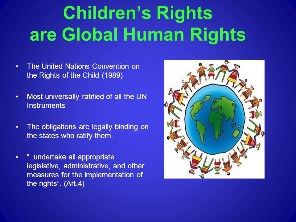 Fundamental childrens rights principles Equality Article 2: States Parties shall respect and ensure the rights set forth in the present Convention to each child within their jurisdiction without discrimination of any kind, irrespective of the child s or his or her parent s or legal guardian s race, colour, sex, language, religion, political or other opinion, national, ethnic or social origin, property, disability, birth or other status.
