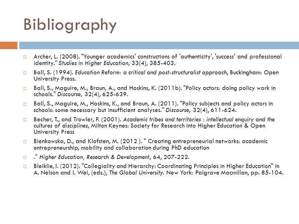 Bibliography Archer, L. (2008).