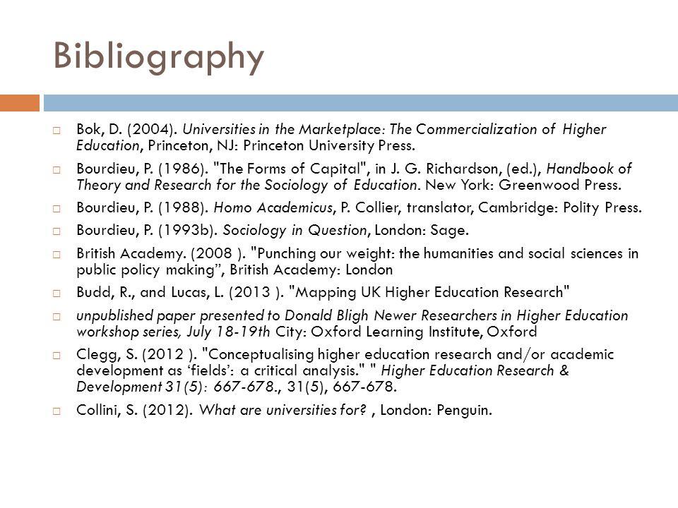 Bibliography Bok, D. (2004).