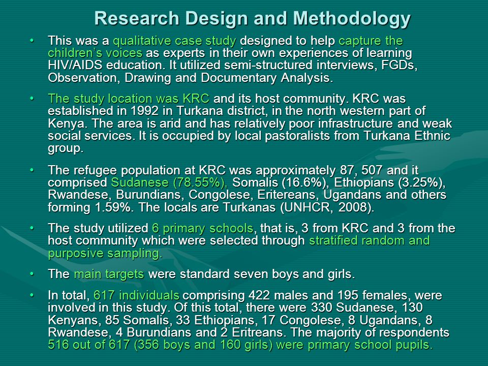 Findings The Influence of Gender, Culture and Religion on HIV/AIDS Education.