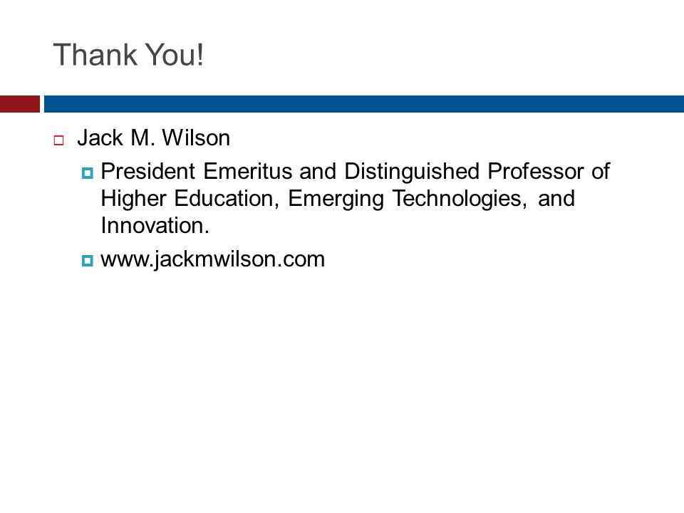 Thank You. Jack M.