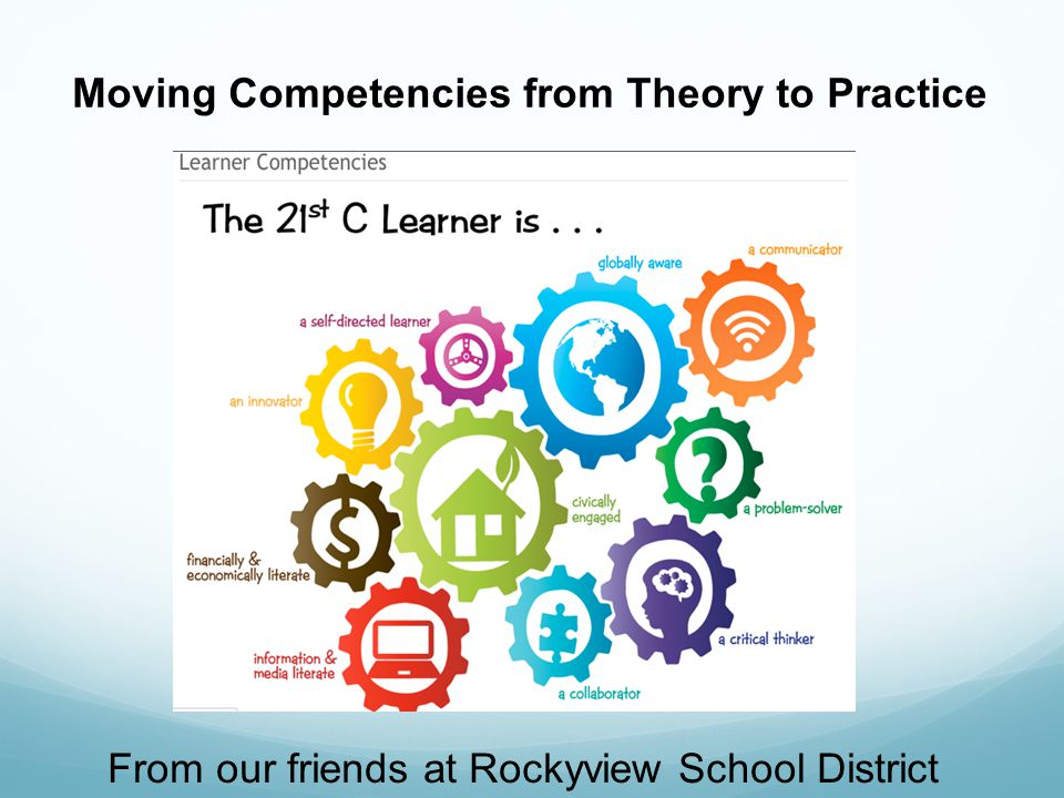 From our friends at Rockyview School District Moving Competencies from Theory to Practice