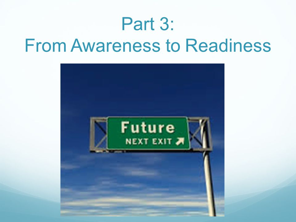 Part 3: From Awareness to Readiness