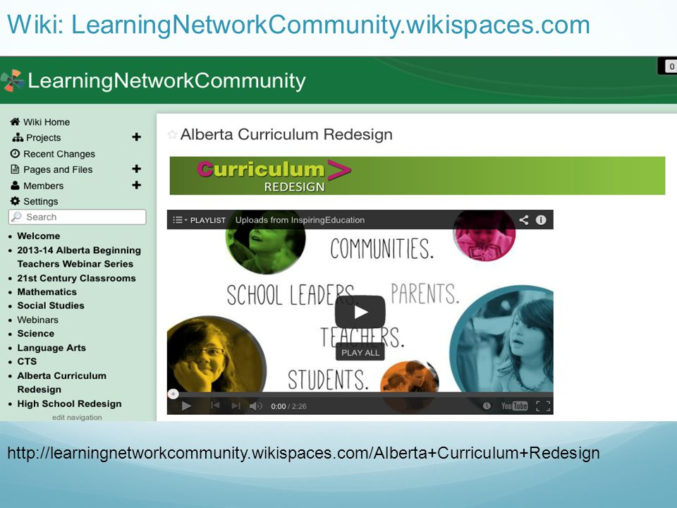 Wiki: LearningNetworkCommunity.wikispaces.com