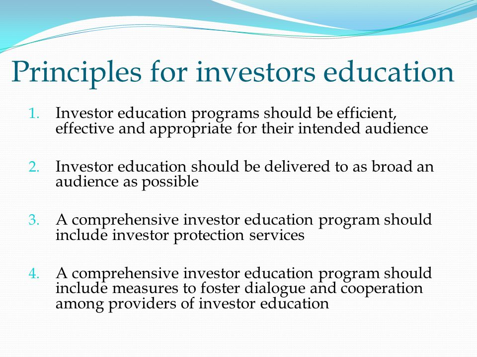 Principles for investors education 1.