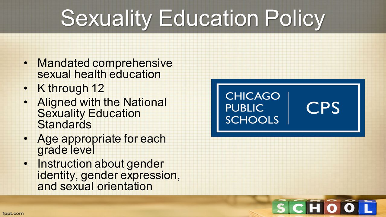 Sexuality Education Policy Mandated comprehensive sexual health education K through 12 Aligned with the National Sexuality Education Standards Age app