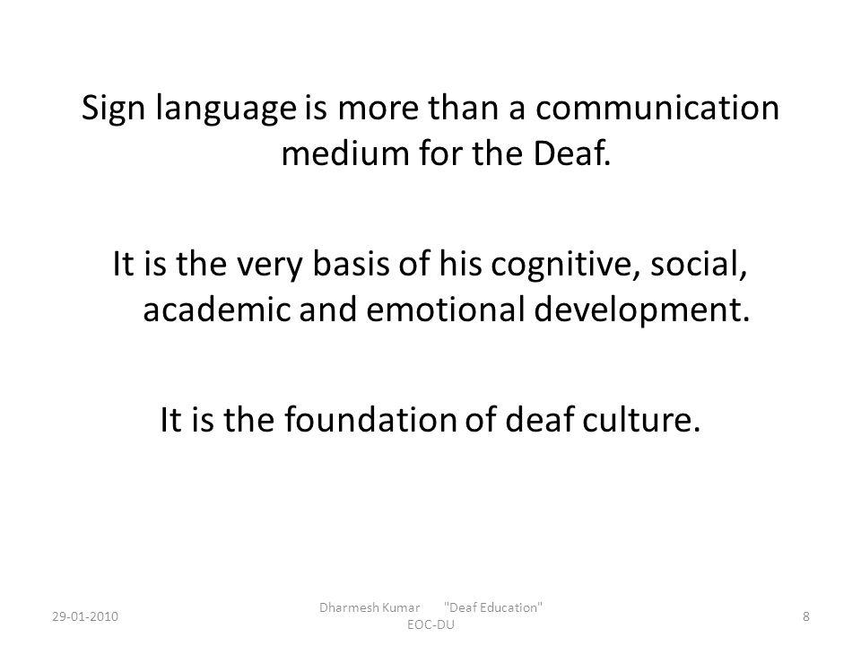 Teaching Video Clip 29-01-20109 Dharmesh Kumar Deaf Education EOC-DU