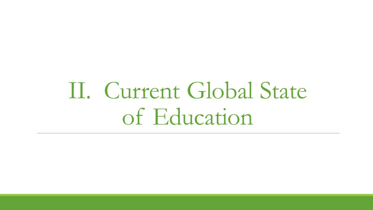 II. Current Global State of Education