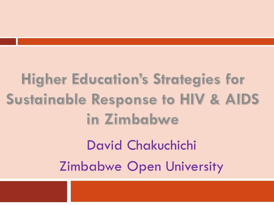 David Chakuchichi Zimbabwe Open University