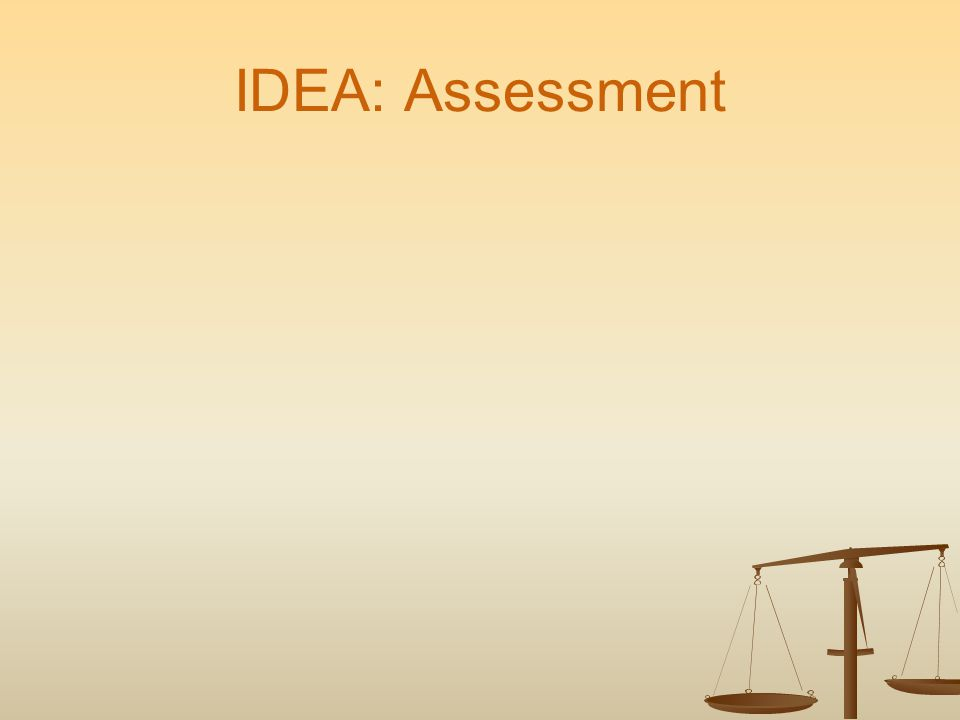 IDEA: Assessment